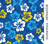 seamless repeat pattern with... | Shutterstock .eps vector #689663338
