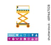 scissors lift vector icon | Shutterstock .eps vector #689667028