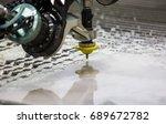 the waterjet cutting cnc... | Shutterstock . vector #689672782