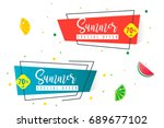 summer sale design banner for... | Shutterstock .eps vector #689677102