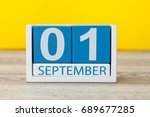 1st september. image of... | Shutterstock . vector #689677285