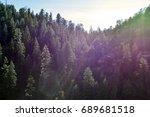 a rainbow specular glow... | Shutterstock . vector #689681518