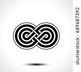 infinity symbol icon vector...   Shutterstock .eps vector #689687392