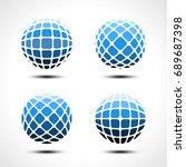 abstract globe design icon.... | Shutterstock .eps vector #689687398