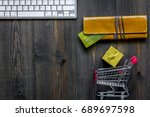online shopping concept.... | Shutterstock . vector #689697598
