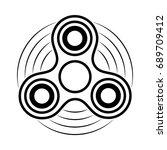 fidget spinner contour icon.... | Shutterstock .eps vector #689709412