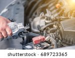 maintenance repair engine in a... | Shutterstock . vector #689723365