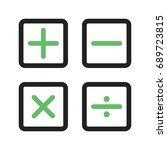 math symbols ii | Shutterstock .eps vector #689723815