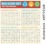 big icon set vector | Shutterstock .eps vector #689725168