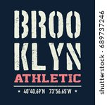 vintage brooklyn typography  t... | Shutterstock .eps vector #689737246