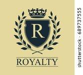 coat of arms. heraldic royal... | Shutterstock . vector #689737555