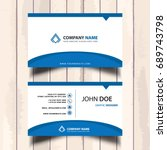 simple blue company visit card   Shutterstock .eps vector #689743798