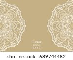 invitation or card template... | Shutterstock .eps vector #689744482