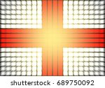 England Flag Mosaic And Zoom...