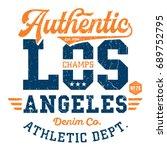 los angeles athletic dept.  ... | Shutterstock .eps vector #689752795
