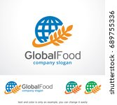 global food logo template... | Shutterstock .eps vector #689755336