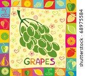 grapes | Shutterstock .eps vector #68975584