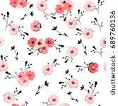 elegant floral pattern.... | Shutterstock .eps vector #689760136