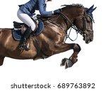 equestrian sports  horse... | Shutterstock . vector #689763892