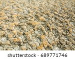desert  wilderness  waste ... | Shutterstock . vector #689771746