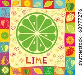 lime vector illustration. | Shutterstock .eps vector #68977276