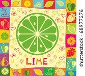 lime vector illustration.   Shutterstock .eps vector #68977276