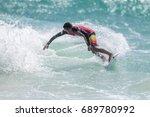 july 29  unidentified surfer in ...   Shutterstock . vector #689780992