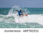 july 29  unidentified surfer in ... | Shutterstock . vector #689782522