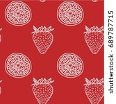 seamless vector pattern with... | Shutterstock .eps vector #689787715
