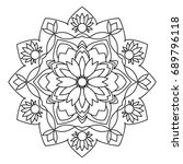 mandala. black and white... | Shutterstock .eps vector #689796118