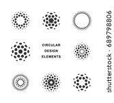 set of abstract circular... | Shutterstock .eps vector #689798806