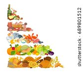 assortment of different food | Shutterstock .eps vector #689801512