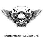 vector illustration grunge... | Shutterstock .eps vector #689805976