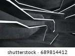 empty dark abstract concrete... | Shutterstock . vector #689814412
