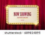 bright red marquee with light... | Shutterstock .eps vector #689814895