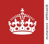 crown  raster illustration.  | Shutterstock . vector #689816638