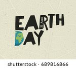earth day   22 april. design... | Shutterstock . vector #689816866
