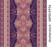 indian pattern. ethnic mandala... | Shutterstock .eps vector #689819956