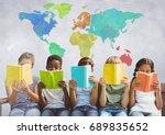 digital composite of group of... | Shutterstock . vector #689835652