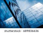 bottom view of modern... | Shutterstock . vector #689836636