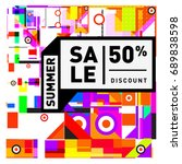 summer sale colorful style... | Shutterstock .eps vector #689838598