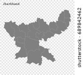 high quality map of jharkhand... | Shutterstock .eps vector #689842462