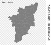 high quality map of tamil nadu... | Shutterstock .eps vector #689842492