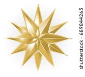 golden christmas star on white... | Shutterstock .eps vector #689844265