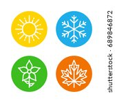 seasons set colorful icons  ... | Shutterstock .eps vector #689846872