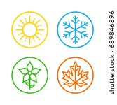 seasons set colorful icons  ... | Shutterstock .eps vector #689846896