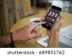 casino slot machine game on... | Shutterstock . vector #689851762