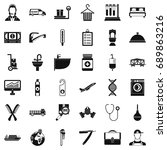work icons set. simple style of ... | Shutterstock .eps vector #689863216