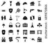 construction production icons...   Shutterstock .eps vector #689870866