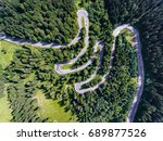 Aerial View Of A Winding Road...